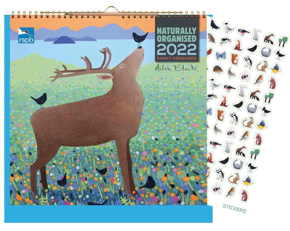 Get organised early for 2022 with this family planner from the RSPB