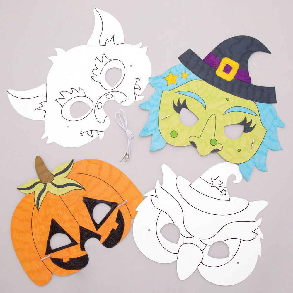 There are Halloween masks you can colour in.