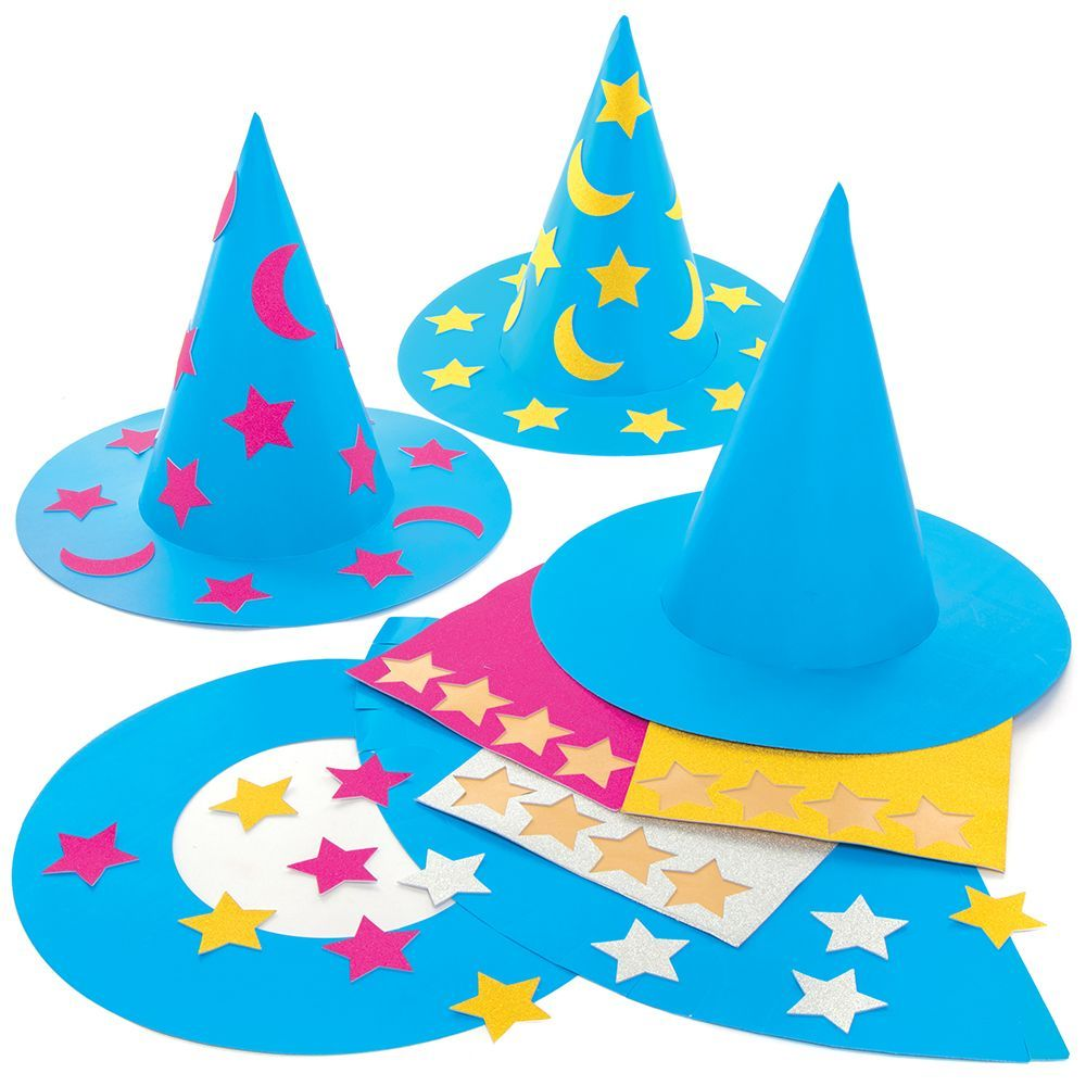 There are Wizard Hat kits to decorate, create, design, and enjoy!