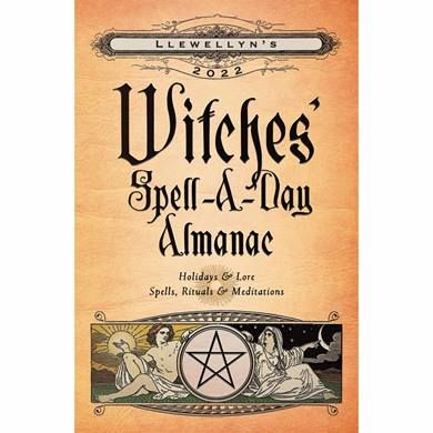 This Witches, Spell-A-Day Almanac A5 Diary 2022 is available from the CalendarClub.co.uk