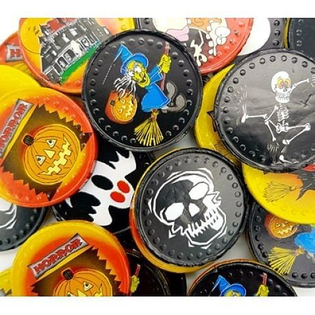 A Quarter Of have Halloween Foiled Milk Chocolate Coins