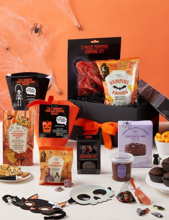 M&S (Marks & Spencer) have lots of Halloween gifts for all ages including treat boxes & goodies!