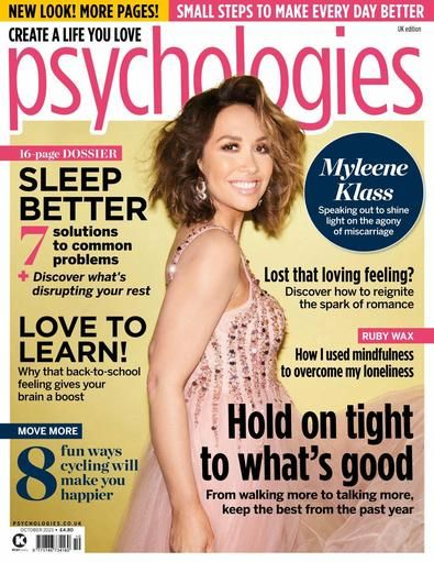 Psychologies focuses on all aspects of personal potential and wellbeing