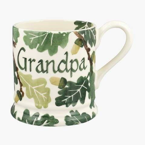 This is a Personalised Oak Half Pint Mug