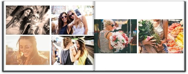 You can choose different sizes and themes for a photobook with with Snapfish