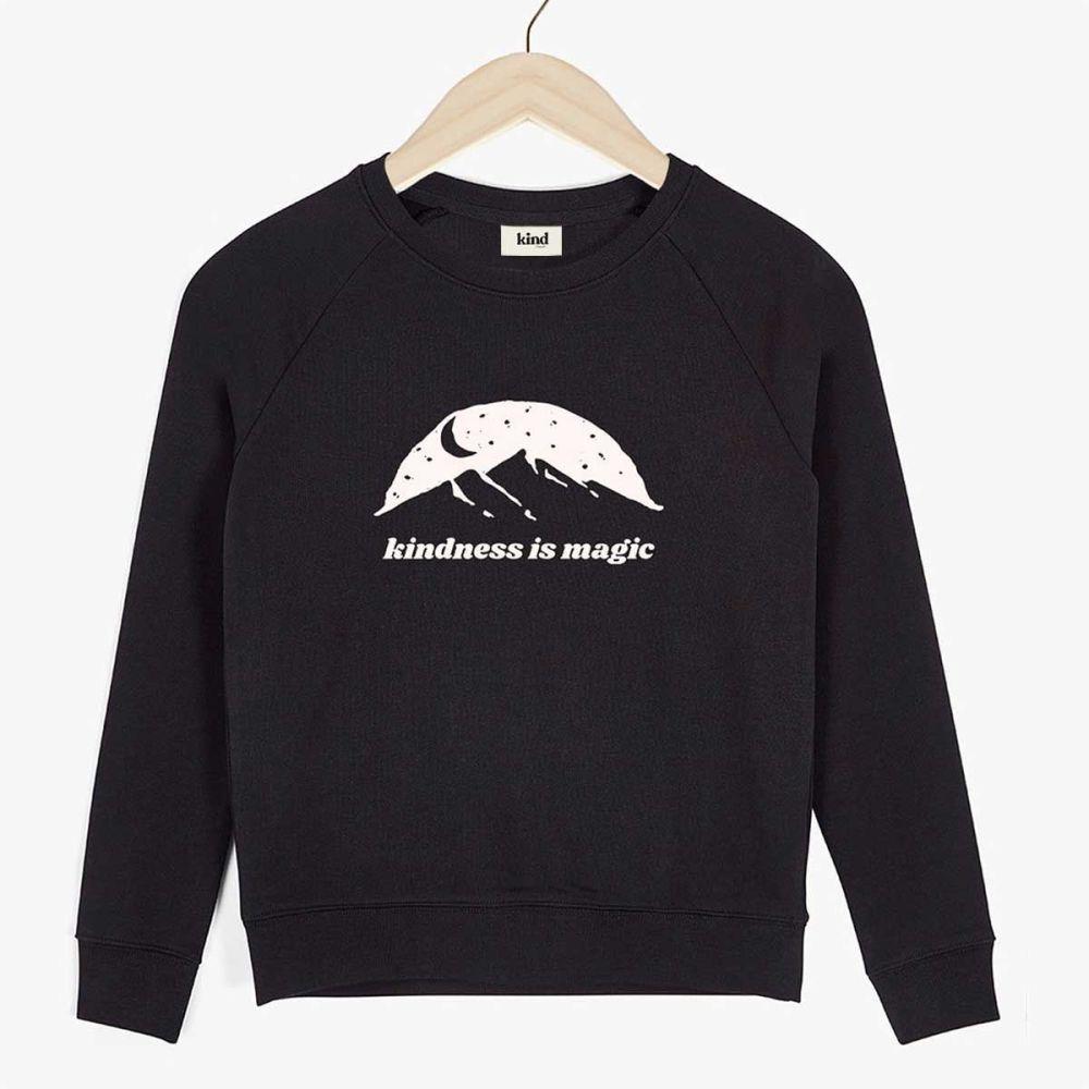 This is the Kindness is Magic Organic Raglan Sweater