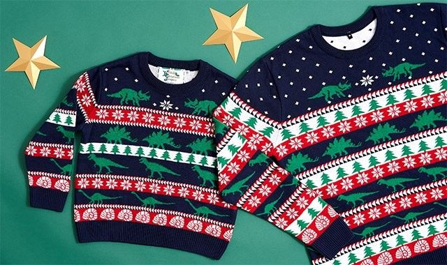 The Natural History Museum has a Christmas Jumper for adults and one for kids!
