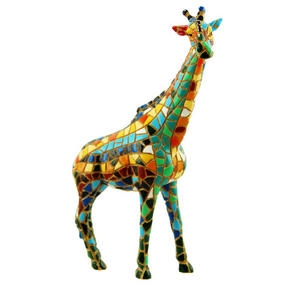 Mosaic Statue Giraffe from ZSL London Zoo