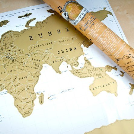 Scratch Map - Personalised World Map