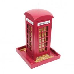 Red Telephone Box Seed Feeder