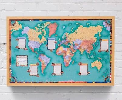 Find out more about the Personalised 'Bucket List' World Map from Getting Personal