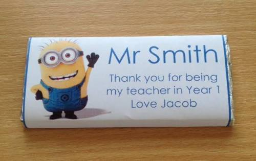 MINION TEACHER THANK YOU - large chocolate bar 40g