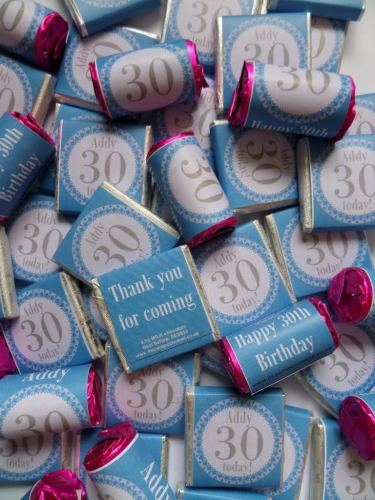 30TH BIRTHDAY (BLUE) - mini 4.5g chocolate favour