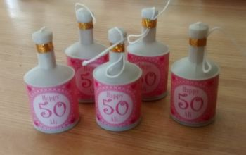 50TH BIRTHDAY (PINK) - party popper