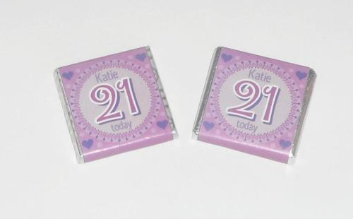 21ST BIRTHDAY (PURPLE) - mini 4.5g chocolate favour
