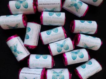 TURQUOISE BUTTERFLY - love hearts (2 sizes)
