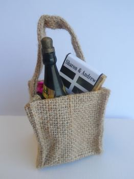 CORNISH FLAG HESSIAN BAG FILLED FAVOUR