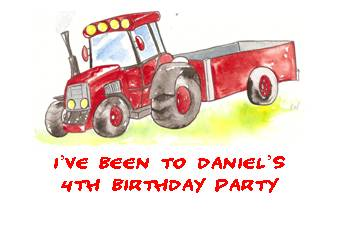 TRACTOR LABELS - 21 personalised labels on an A4 sheet (label size 63 x 38 mm)