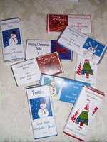 CHOCOLATE BARS AS GIFTS OR TABLE PLACE NAMES