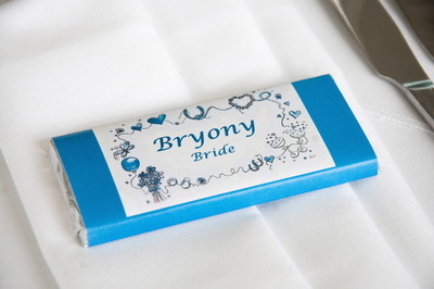 WEDDING BORDER (blue) - large favour 40g