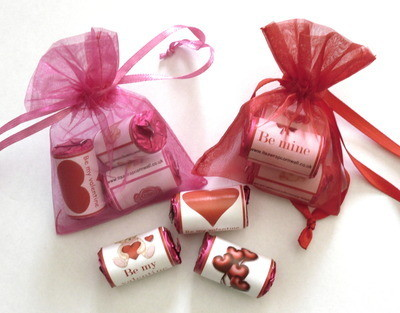 LOVE HEART ORGANZA GIFT BAG