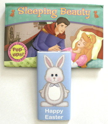 CHOC 'n' BOOK - 40g milk chocolate bar with fairy tale pop-up book