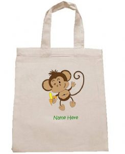 MONKEY personalised cotton party bag (no contents included)