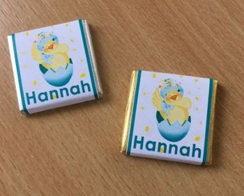 HAPPY CHICK mini square chocolate favour