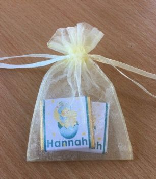 HAPPY CHICK choc organza gift bag