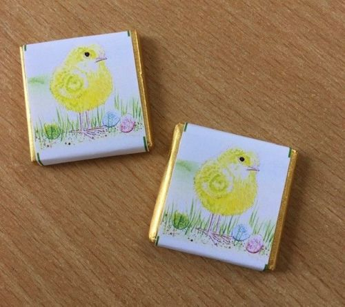CUTE CHICK mini square chocolate favour