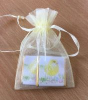CUTE CHICK choc organza gift bag
