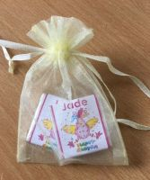 CRAZY CHICKEN choc organza gift bag