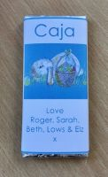 BUNNY WITH BASKET rectangle chocolate bar