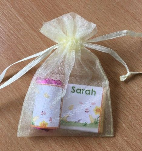 LAMB WITH CHICKS mixed organza gift bag