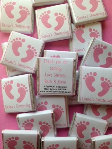 PINK FOOTPRINTS - mini 4.5g chocolate favour