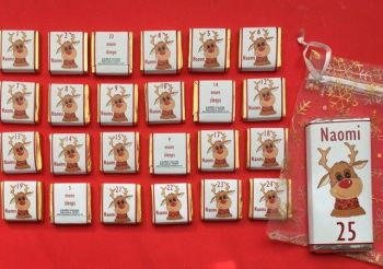 RUDOLPH CHOC ADVENT (mini chocs, love hearts or mixed)