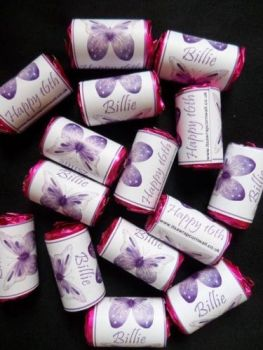 PURPLE BUTTERFLY BIRTHDAY - love hearts