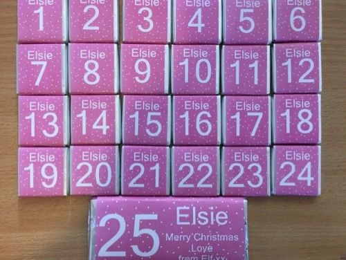 PINK ADVENT (mini chocs, love hearts or mixed)