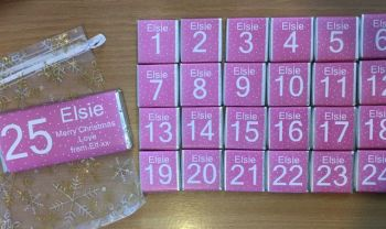 PINK advent with bag