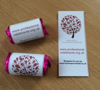 SAMPLE OWN DESIGN - corporate mini rolls love hearts