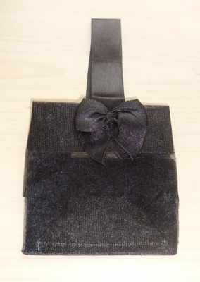 BLACK ORGANZA TOTE BAG (bag only)