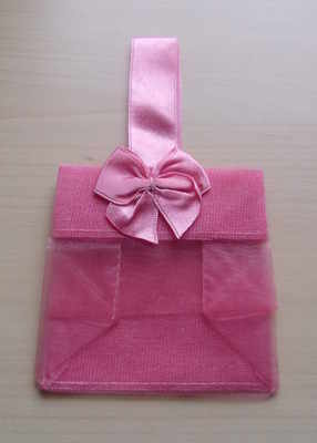PINK ORGANZA TOTE BAG (bag only)