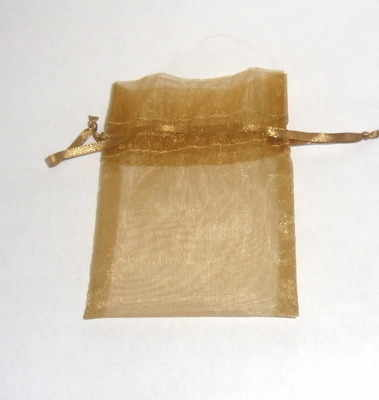 GOLD ORGANZA DRAWSTRING BAG (bag only)