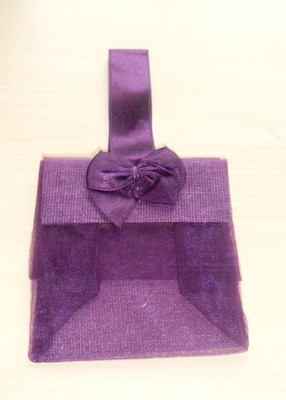 PURPLE ORGANZA TOTE BAG (bag on own)