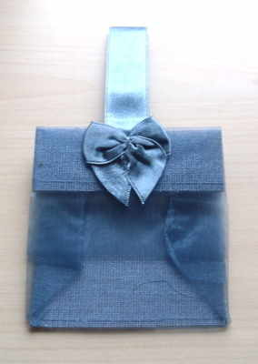 SMOKED BLUE ORGANZA TOTE BAG (bag only)