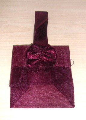 WINE ORGANZA TOTE BAG (bag only)