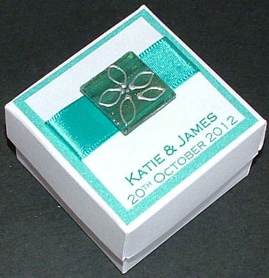 FAVOUR BOX turquoise - personalised (box only)