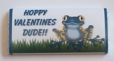 BLUE FROG VALENTINE - large chocolate bar 40g