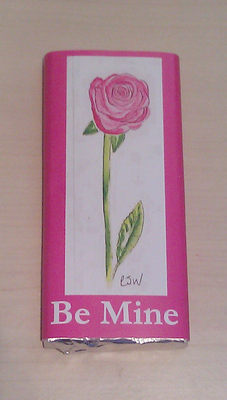 PINK ROSE - large chocolate bar 40g