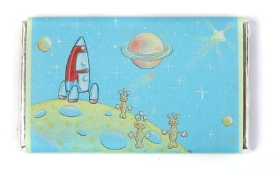 ALIEN FAMILY - large chocolate bar 40g